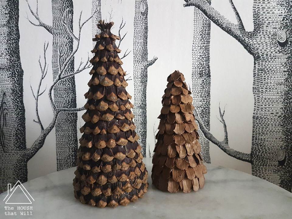 The House that Will | Crafty Cone Tree Ornaments