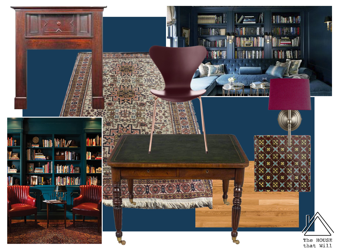 The House that Will | One Room Challenge - Library - Moodboard