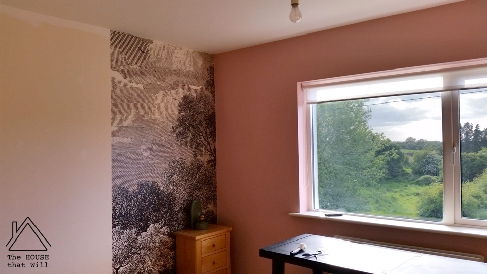 The House that Will | How to Hang a Wallpaper Mural