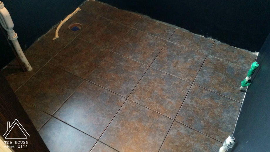 Fully-tiled floor.The House that Will | Laying Floor Tiles: a step-by-step guide