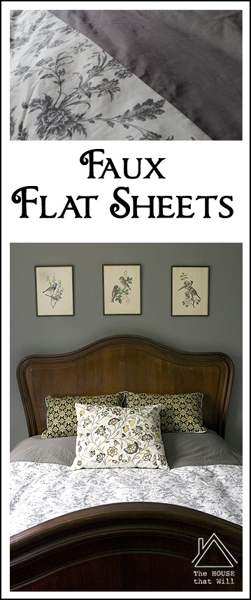 The House that Will | Faux Flat Sheets Hack