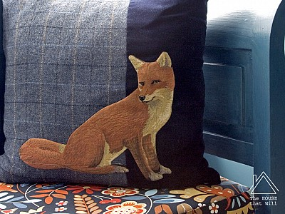 Hand-Appliqué Fox Cushion