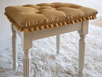 DIY Tufted Stool Upholstery
